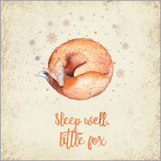 Sticker mural Sleep well little fox