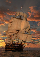 Sticker mural  Le HMS Victory - Peter Weishaupt