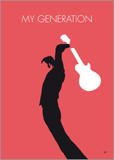 Sticker mural  No002 MY THE WHO Minimal Music poster - chungkong