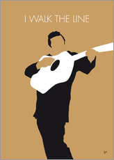 Tableau en plexi-alu  Johnny Cash, I walk the line - chungkong