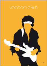 Sticker mural  Jimi Hendrix, Voodoo Child - chungkong