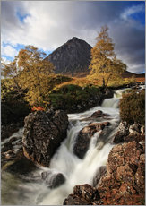 Tableau en plexi-alu  Scotland in Autumn - Buchaille Etive Mor - Martina Cross
