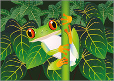 Tableau en plexi-alu  Hold on tight little frog! - Kidz Collection