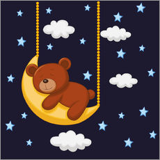 Sticker mural  Bonne nuit Teddy - Kidz Collection