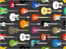 Tableau en plexi-alu  Collection de guitares - Kidz Collection