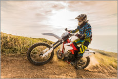 Tableau en plexi-alu  Enduro rider on the coast