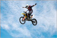 Sticker mural  Motorcycle racer jumping