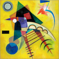 Tableau en plexi-alu  Point blanc - Wassily Kandinsky