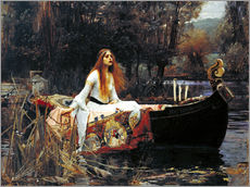 Sticker mural  La Dame de Shalott - John William Waterhouse
