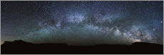 Sticker mural  Panoramic of the Milky way arch in the sky, United States - Matteo Colombo