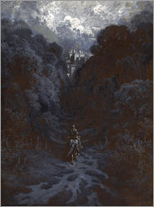 Tableau en plexi-alu  Sir Lancelot Approaching the Castle of Astolat - Gustave Doré