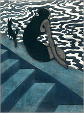 Sticker mural  La Baigneuse - Léon Spilliaert