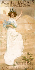 Sticker mural  Yoke Florals de Barcelona - Ramon Casas i Carbo