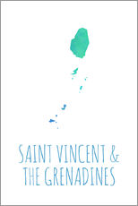 Sticker mural Saint Vincent & the Grenadines