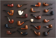 Sticker mural  Collection of smoking pipes - Elisabeth Cölfen