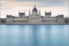 Sticker mural  Hungarian Parliament with Danube, Budapest - Frank Fischbach