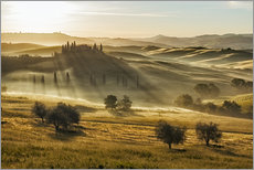 Sticker mural  Dawn in Tuscany, Italy - Frank Fischbach