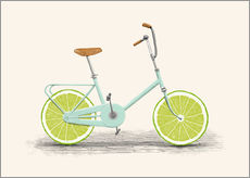 Sticker mural  Bicyclette acide - Florent Bodart