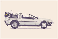 Tableau en plexi-alu  Delorean - Florent Bodart