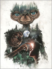 Tableau en plexi-alu  E.T. the extra terrestrial - Barrett Biggers