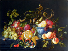 Tableau en bois  Nature morte de fruits - Cornelis de Heem