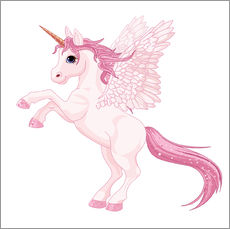 Sticker mural  Ma licorne rose - Kidz Collection