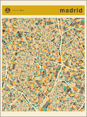 Sticker mural Carte de Madrid