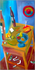 Sticker mural  Cheese and fruits - Diego Manuel Rodriguez