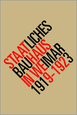 Sticker mural  STAATLICHES BAUHAUS (VINTAGE) - THE USUAL DESIGNERS