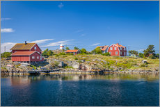 Tableau en plexi-alu  Summer in the Swedish archipelago islands - Christian Müringer