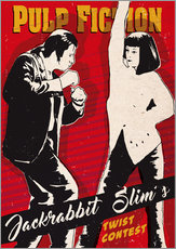 Sticker mural  Pulp fiction twist contest (anglais) - 2ToastDesign