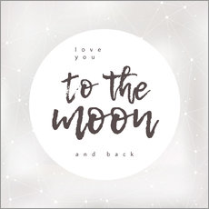 Sticker mural  To the moon and back - Typobox