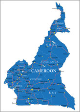 Sticker mural Map Cameroon