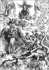 Sticker mural  The Apocalyptic woman or the woman clothed with the sun - Albrecht Dürer