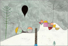 Sticker mural  Paysage d'hiver - Paul Klee