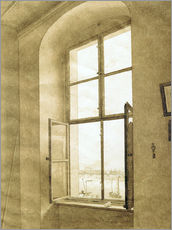 Tableau en plexi-alu  View from the studio - Caspar David Friedrich