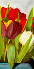 Tableau en plexi-alu  Cheerful spring colors - Monica Schwarz