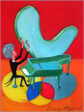 Sticker mural  The great pianist - Diego Manuel Rodriguez