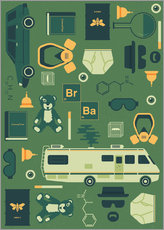 Tableau en plexi-alu  Breaking Bad - Tracie Andrews