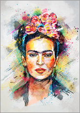 Sticker mural  Frida toute en couleurs - Tracie Andrews