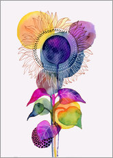 Sticker mural Sunflower abstract