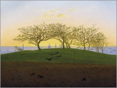 Tableau en plexi-alu  Colline avec un champ labouré - Caspar David Friedrich