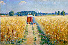 Tableau en plexi-alu  Three women on a path - Kasimir Sewerinowitsch  Malewitsch