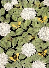 Sticker mural  Japanese floral design - French School