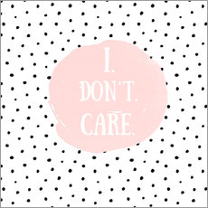 Tableau en plexi-alu  I dont care on polkadots - UtArt