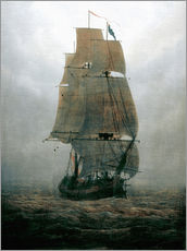 Sticker mural  Voilier - Caspar David Friedrich