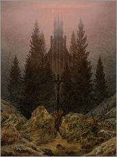 Sticker mural  Crucifix en forêt - Caspar David Friedrich