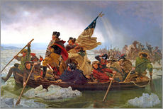 Sticker mural  George Washington Crossing the Delaware River, 25th December 1776 - Emanuel Gottlieb Leutze