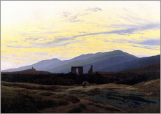Sticker mural  Ruine d'Eldena - Caspar David Friedrich