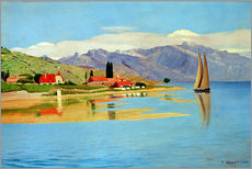 Sticker mural  Le Port de Pully - Felix Edouard Vallotton